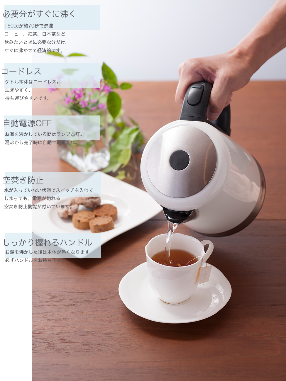 Kettle Stainless Steel Deluxe/PRINCESS