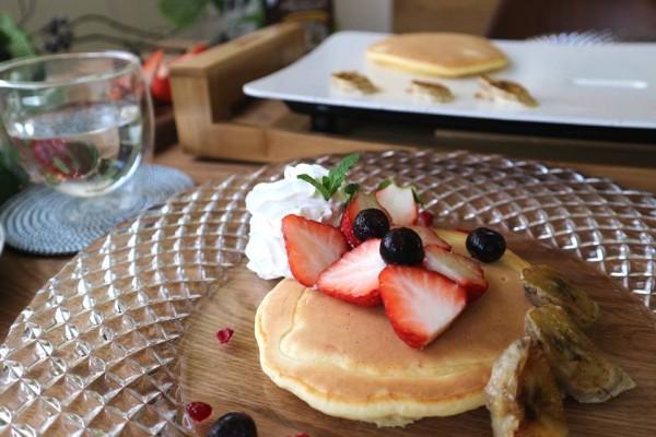 テーブルグリルストーン/PRINCESS/リコッタチーズのパンケーキ/レシピ