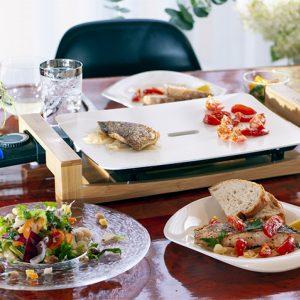 白身魚とミニトマトのソテー