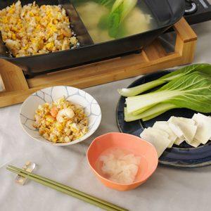 ワンタンスープ&炒飯