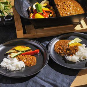 キーマカレー&トッピング焼き野菜