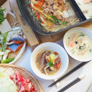 ピリ辛鍋&豆乳鍋