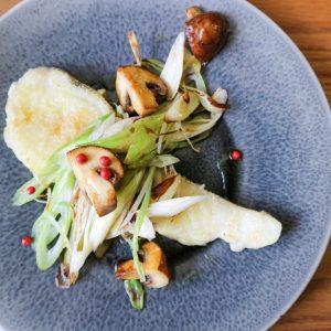 白身魚のソテー焼野菜添え