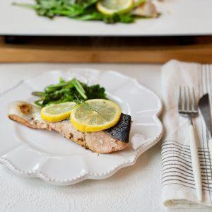 鮭のハニーレモンバター焼き
