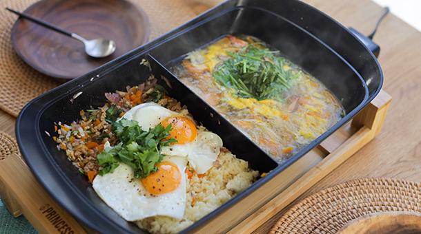 タイ風スープ&ガパオライス