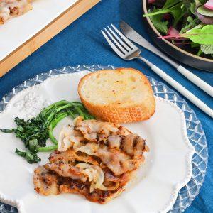 豚肉ハニーマスタード焼き&ガーリックトースト