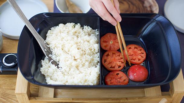 バターライス&洋風トマトすき焼き