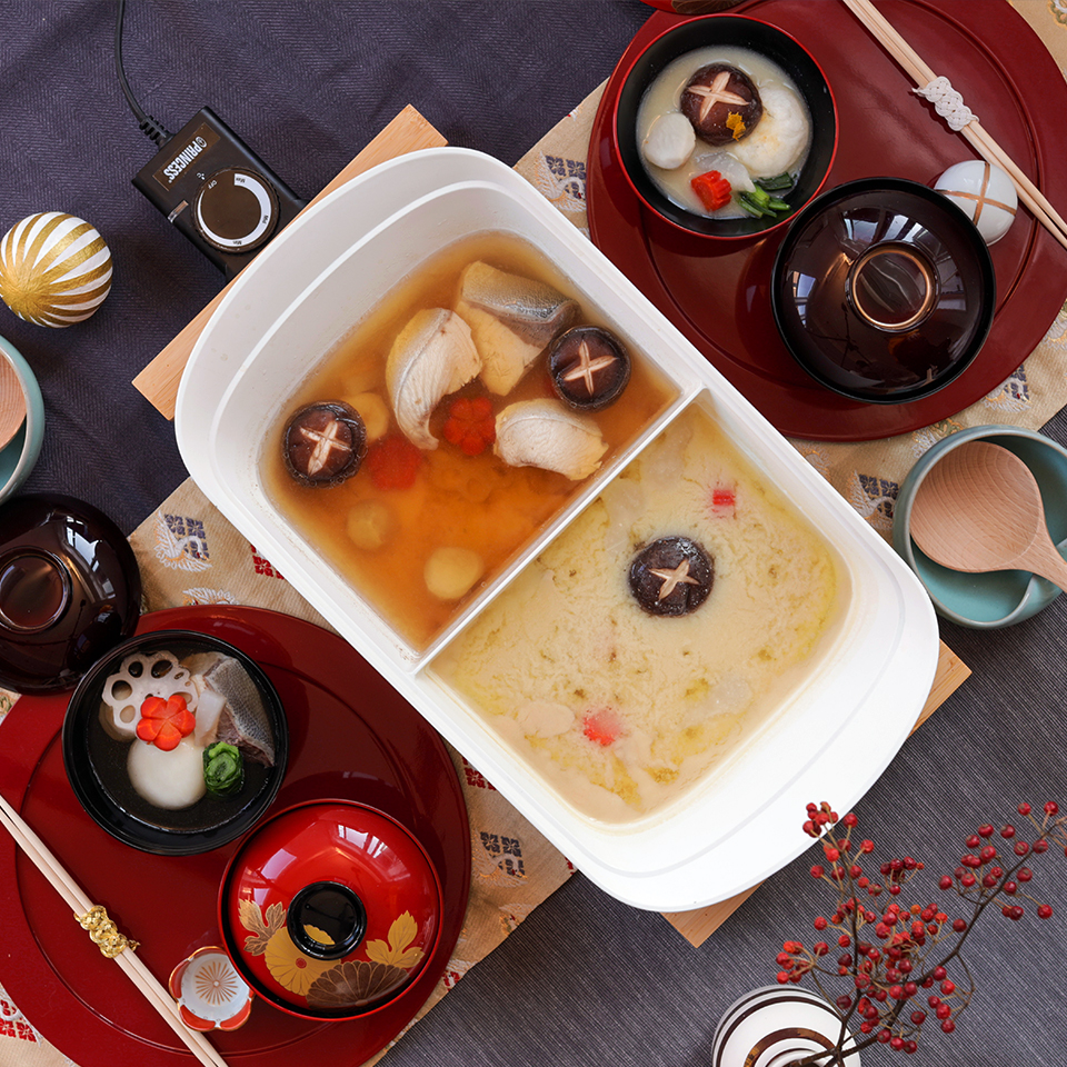 2種の雑煮(博多風&京風)