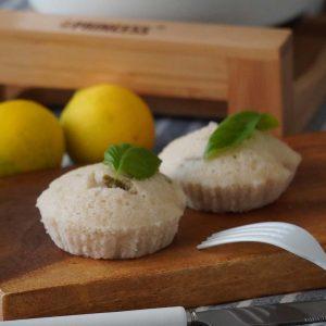 レモンとバジルの蒸しケーキ