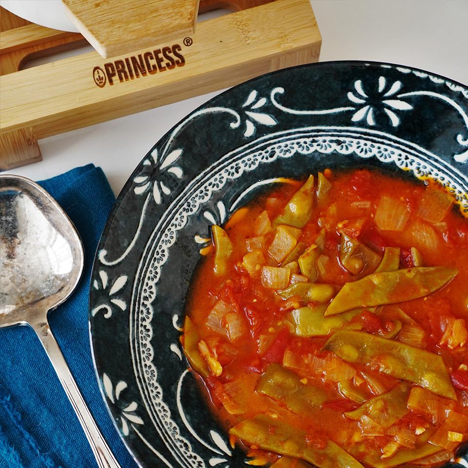 インゲンのトマト煮込み