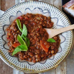 レンズ豆のスープシチュー